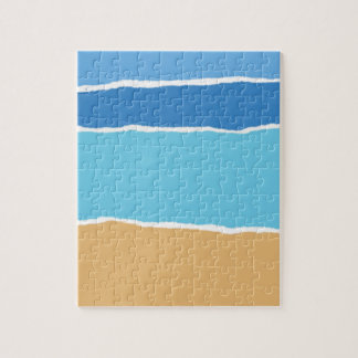 Abstract beach, sea and sky puzzle
