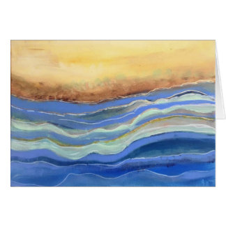 Abstract Beach Stationery, Blank Inside Card
