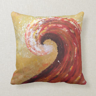 Abstract Beach Wave Fine Art Painting Throw Pillow