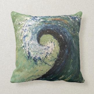 Abstract Beach Wave Fine Art Throw Pillow