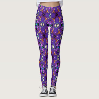 Abstract Beads Leggings