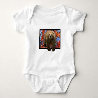 Abstract Bear Baby Bodysuit