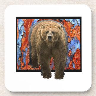 Abstract Bear Coaster