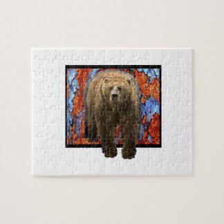 Abstract Bear Jigsaw Puzzle
