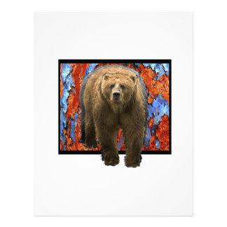 Abstract Bear Letterhead