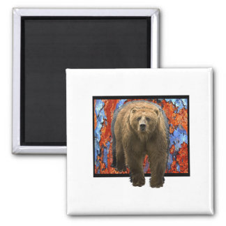 Abstract Bear Magnet