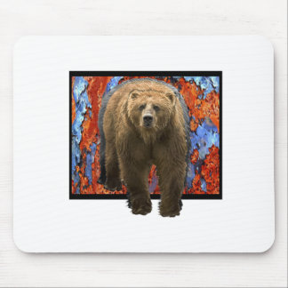 Abstract Bear Mouse Pad
