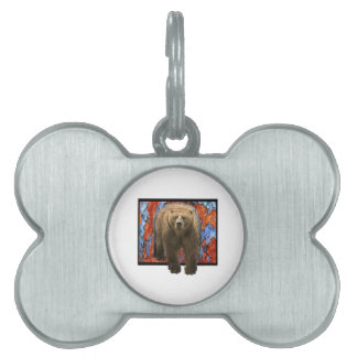 Abstract Bear Pet Name Tag