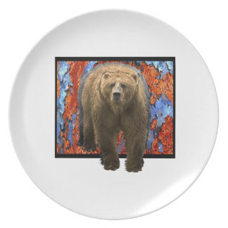 Abstract Bear Plate