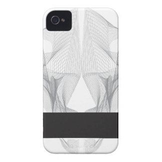 Abstract Bear Skull iPhone 4 Cover