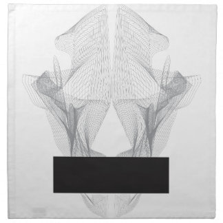 Abstract Bear Skull Napkin
