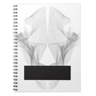 Abstract Bear Skull Notebooks