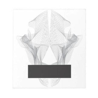 Abstract Bear Skull Notepad