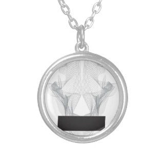Abstract Bear Skull Silver Plated Necklace