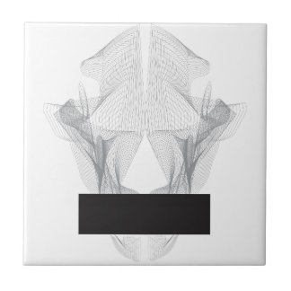Abstract Bear Skull Tile
