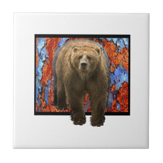 Abstract Bear Tile