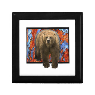 Abstract Bear Trinket Box