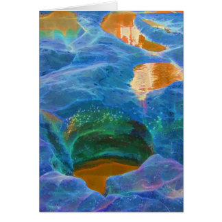 Abstract beautiful rock pools greeting card