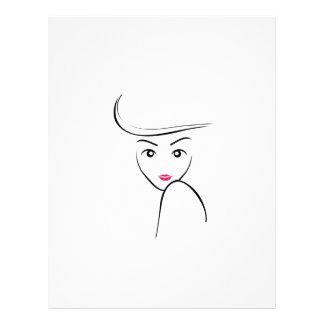 Abstract beauty custom letterhead