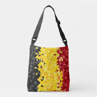 Abstract Belgium Flag, Belgian Colors Bag
