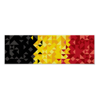 Abstract Belgium Flag, Belgian Colors Poster