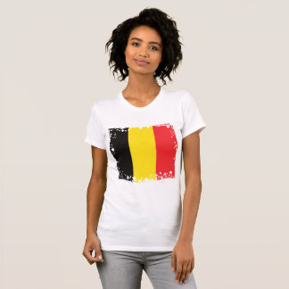 Abstract Belgium Flag T-shirt, Belgian Colors T-Shirt