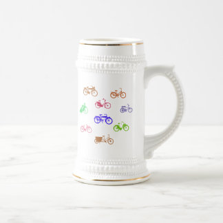 Abstract Bicycles 18 Oz Beer Stein