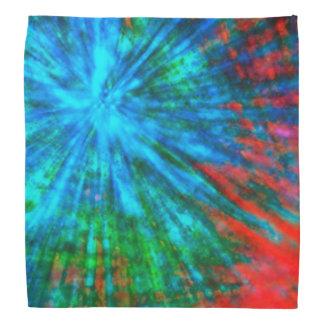 Abstract Big Bangs 001 Multicolored Bandanna