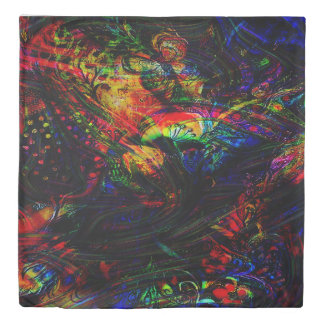 Abstract Birds and Butterflies Duvet Cover