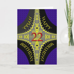 Abstract Birthday Card For An 22 Year Old