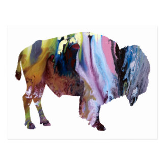 Abstract Bison Silhouette Postcard