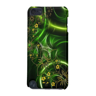 Abstract Black and Lime Green Floral Design iPod Touch (5th Generation) Cover