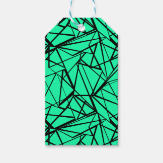 Abstract black and turquoise gift tags