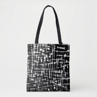 Abstract Black and White artwork Tote Bag