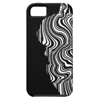Abstract Black and White Cat Swirl monochrome one iPhone 5 Case