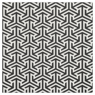 abstract black and white geometrical design fabric