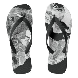 Abstract Black and White Modern Flip Flops