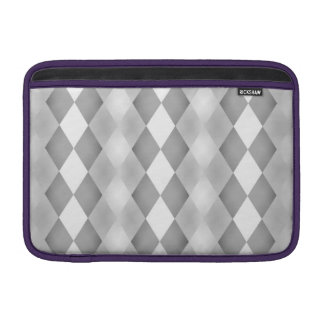 Abstract Black and White Square Pattern Sleeves For MacBook Air