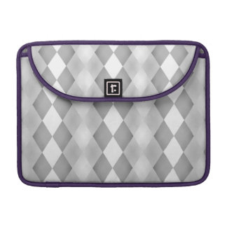 Abstract Black and White Square Pattern Sleeves For MacBook Pro
