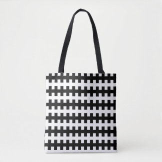Abstract Black and White Tote Bag