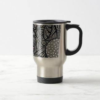 Abstract Black and White travel Mug