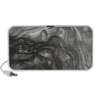 Abstract Black and White Waves Laptop Speaker
