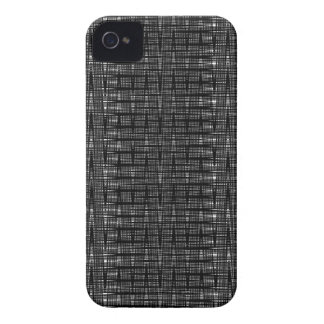 Abstract black and white zig zag pattern case