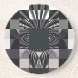 abstract black beverage coasters