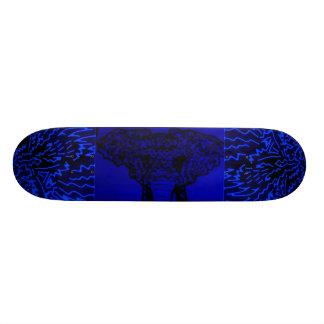 "Abstract Black/Blue ""Elephant"" Skateboard"