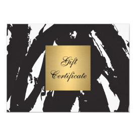 Abstract Black Brushstrokes Gift Certificate