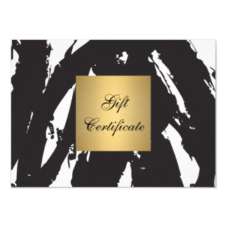 Abstract Black Brushstrokes Gift Certificate Card