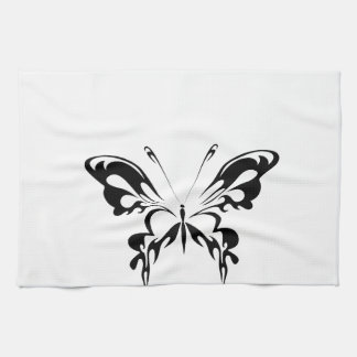 Abstract  Black Butterfly Towel