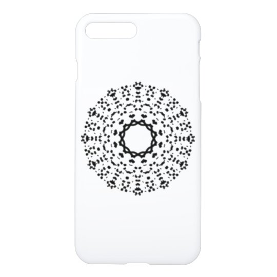 Abstract black circle pattern iPhone 7 plus case