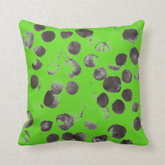 Abstract Black Dots 170256 Throw Pillow